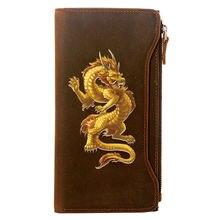 Классический дизайнерский кошелек из натуральной кожи с изображением