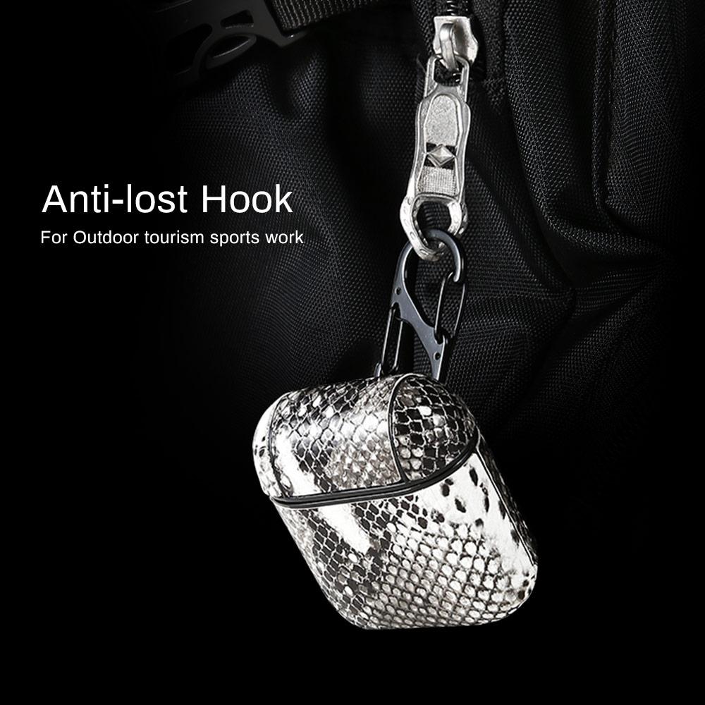 עבור apple עור נחש אוזניות Case עבור Apple AirPods מגן אנטי-איבדו אוזניות Bluetooth אלחוטית Pod האוויר בתוך שקיק אופנה Carcasa Bag (5)