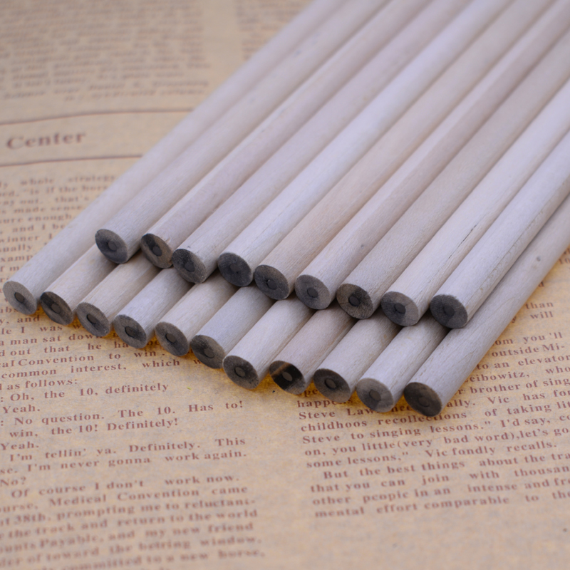 6PCS Pencil HB Eco Friendly Natural Wood Blank Round Non Toxic Standard Pencil Drawing Stationery Joy Corner in Standard Pencils from Office School Supplies