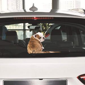Image 3 - 反射車のステッカー漫画おかしい移動テール犬ステッカーダイナミックステッカーリアウィンドウワイパーステッカー防水