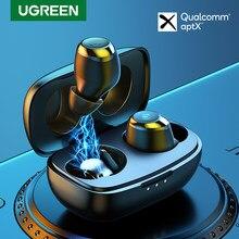 UGREEN — Écouteurs Bluetooth v5.0 TWS, oreillettes sans fil, hi-fi avec puce Qualcomm, aptX, HiTune