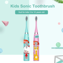 New Electric Tooth Brush For children Sonic electric toothbrush Kids 1 3 heads Gift Battery Toothbrushes