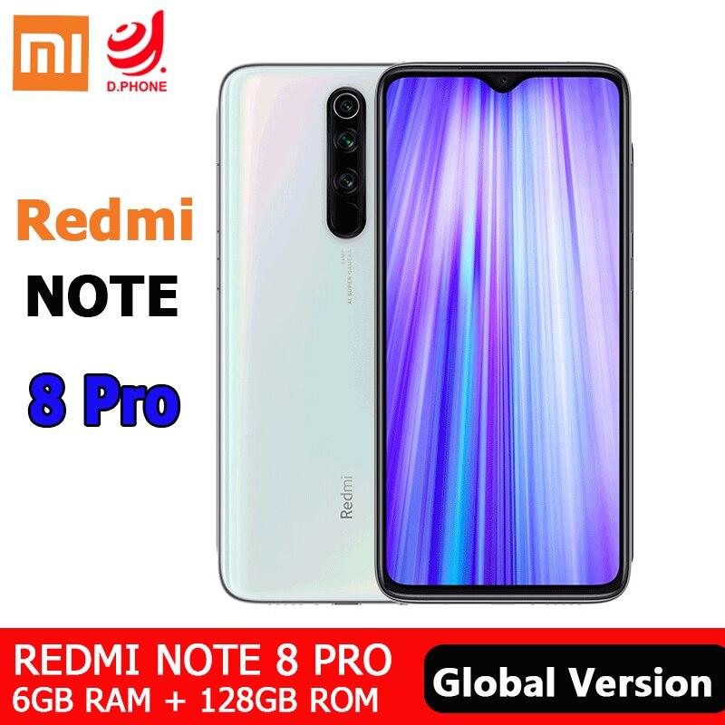 ROM Global Xiaomi Redmi Note 8 Pro 6GB 128GB téléphone portable 64MP Quad caméra 4500mAh Smartphone MTK Helio G90T Octa Core téléphone portable