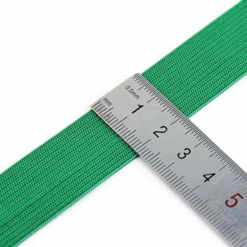 20mm bandas elásticas coloridas linha de faixa de borracha de corda plana elastano fita costura guarnição do laço faixa de cintura acessório de vestuário 5 metro