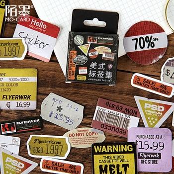 45pcs/box Retro Label Decorative Stickers Album Diary Calendar Scrapbooking Diy Decor Stick Label Stationery Sticker lazy cat meow decorative stationery stickers scrapbooking diy diary album stick label