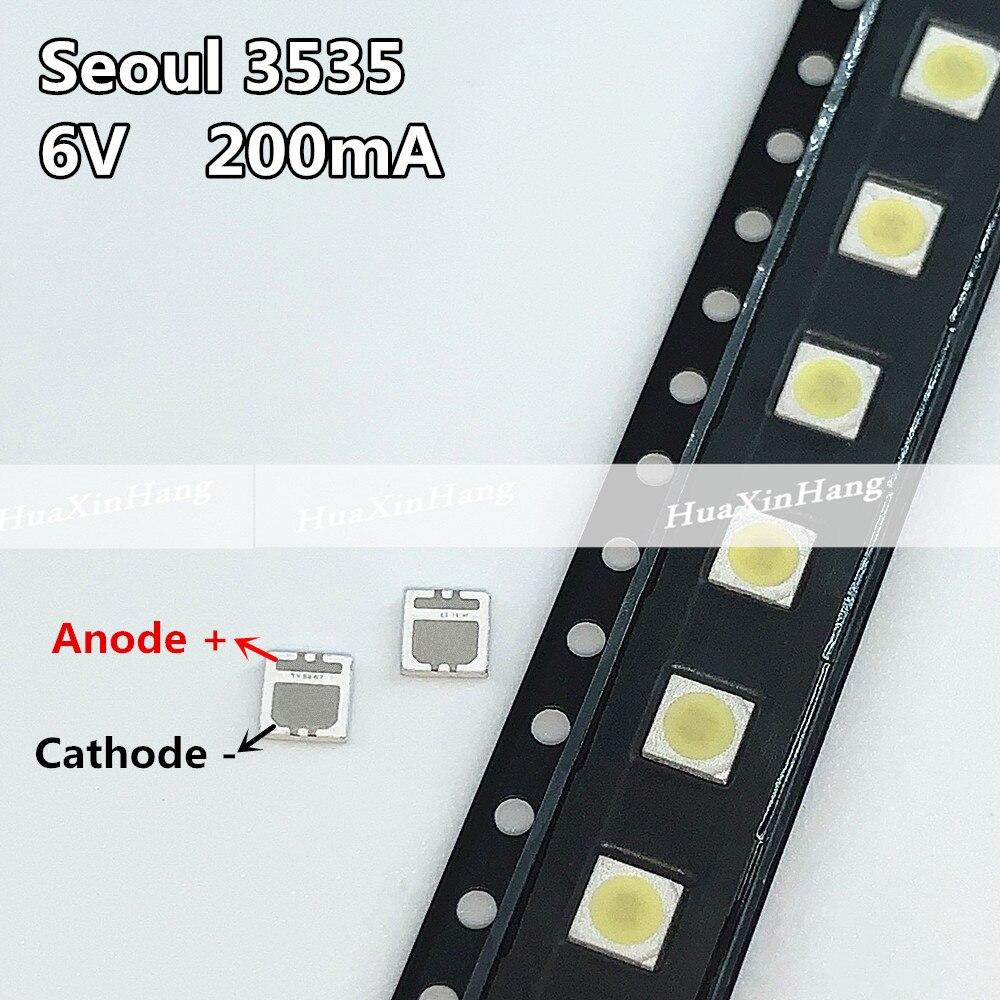 500pcs/lot FOR Maintenance Philips SONY Toshiba LED LCD TV TV backlight lights with Seoul 3535 lamp beads 6V SBWVL2S0E 135LM