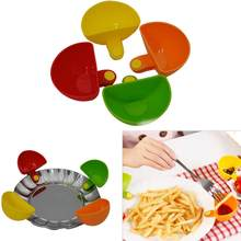 Dishes Clip Tomato Sauce Salt Vinegar Sugar Flavor Spices Salad Seasoning Box Dip Clips Sauce Holders Kitchen Bowl Flavor Dish(China)