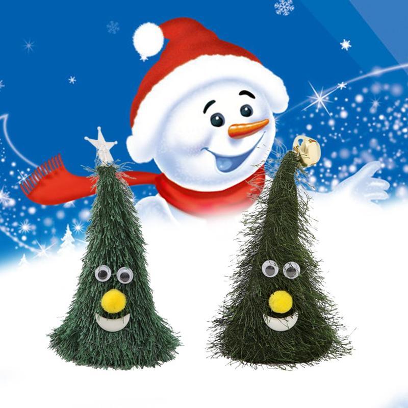 Электрический Санта-Клаус игрушка Рождественская елка Музыка Пение встряхивание Звездный колокол декор украшения колпачок Детская