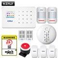 KERUI sistema de alarma de seguridad inalámbrico para el hogar WIFI GSM Kit de Control de aplicación con sistema de alarma antirrobo con Sensor de movimiento de marcación automática