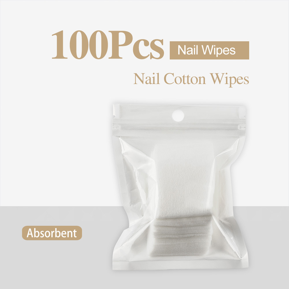 Nail Polish Remover Nail Wipes For Manicure Cleanser Nail Art Soak Off Cleaner Gel Polish Remover Lint-Free Wipes