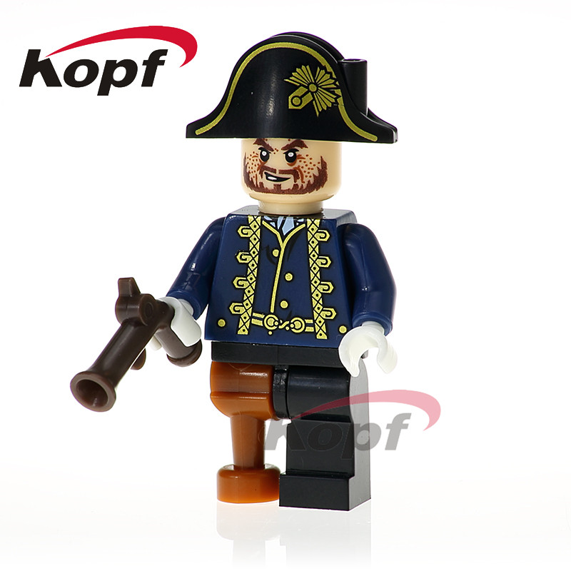 Single Sale Hector Barbossa Carina Joshamee Gibbs Scurm Pirates Of The Caribbean Building Blocks Children Gift Toys Model XH 614