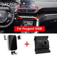 Soporte de teléfono móvil para Peugeot 5008, rejilla de ventilación Interior para salpicadero, accesorios para coche