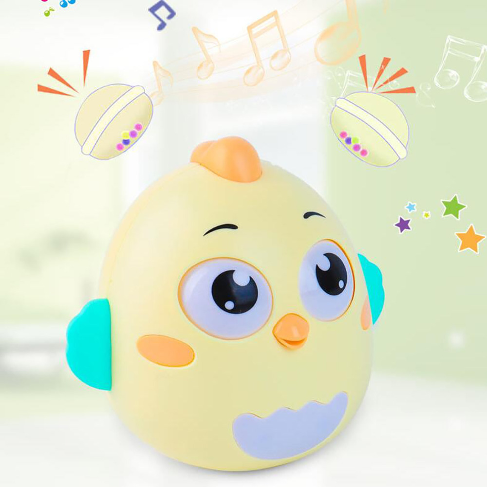 Cute Nodding Tumbler Cartoon Chick Newborn Toys Rattle Bell Baby Mobile Toy Early Educational Stroller Baby Toys 0-12 Month