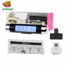 2в1 Автомобильный цифровой термометр с ЖК-экраном термометр часы автомобильные часы термометр цифровая подсветка Автомобильный термометр