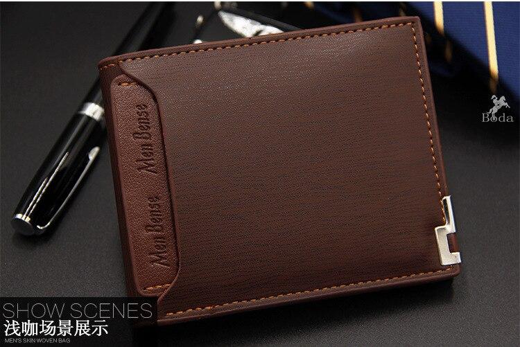 Carteira masculina multifunction saco de dinheiro carteiras