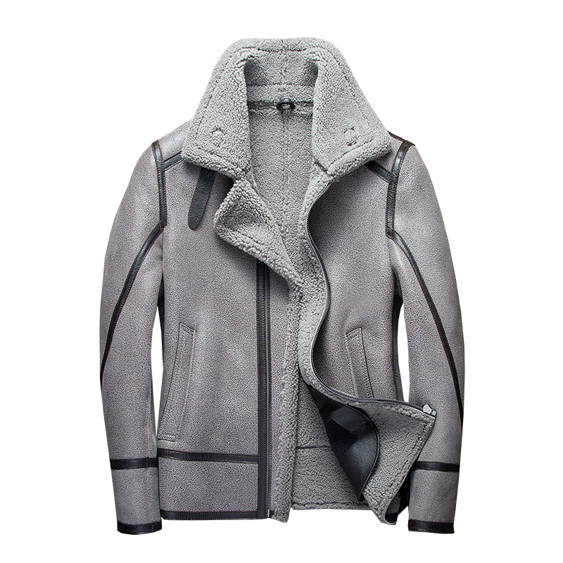 Winter Coat Men 2020 Sheep Shearing Real Fur Coat Men Plus Size Korean Wool Jacket For Mens Clothing Veste Homme 7166 YY745