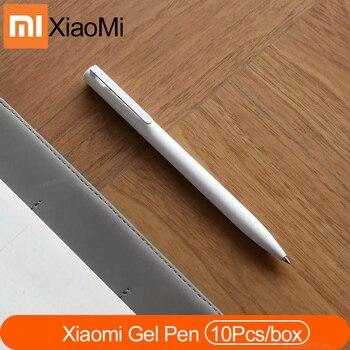 Newest Original Xiaomi Mi Gel Pen 0.5mm Black Refill No Cap Bullet Pen Smooth Switzerland MIKRON Nib Japanese Ink