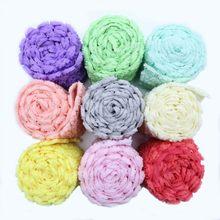 Fleurs de Simulation 3D Guipure, 1 an/Lot, dentelle multicolore en mousseline de soie, Double couche de haute qualité, fleur de Rose, DIY bricolage
