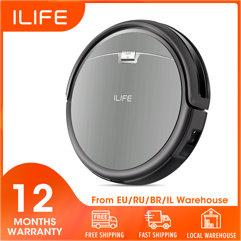 ILIFE Vacuum-Cleaner Carpet Dustbin Robot Powerful-Suction Hard-Floor Recharge Automatic