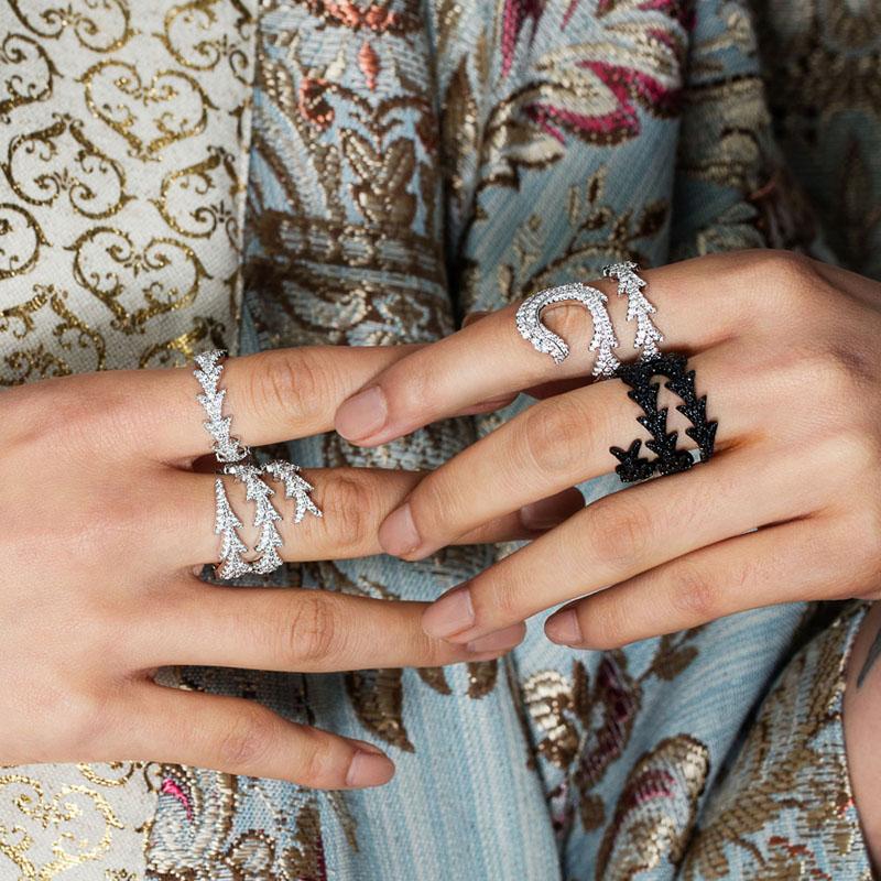 Breloque de mode en argent Sterling copie 1:1 réplique, argent noir spirale Dragon queue anneau femmes Monaco bijoux cadeau avec Logo - 4
