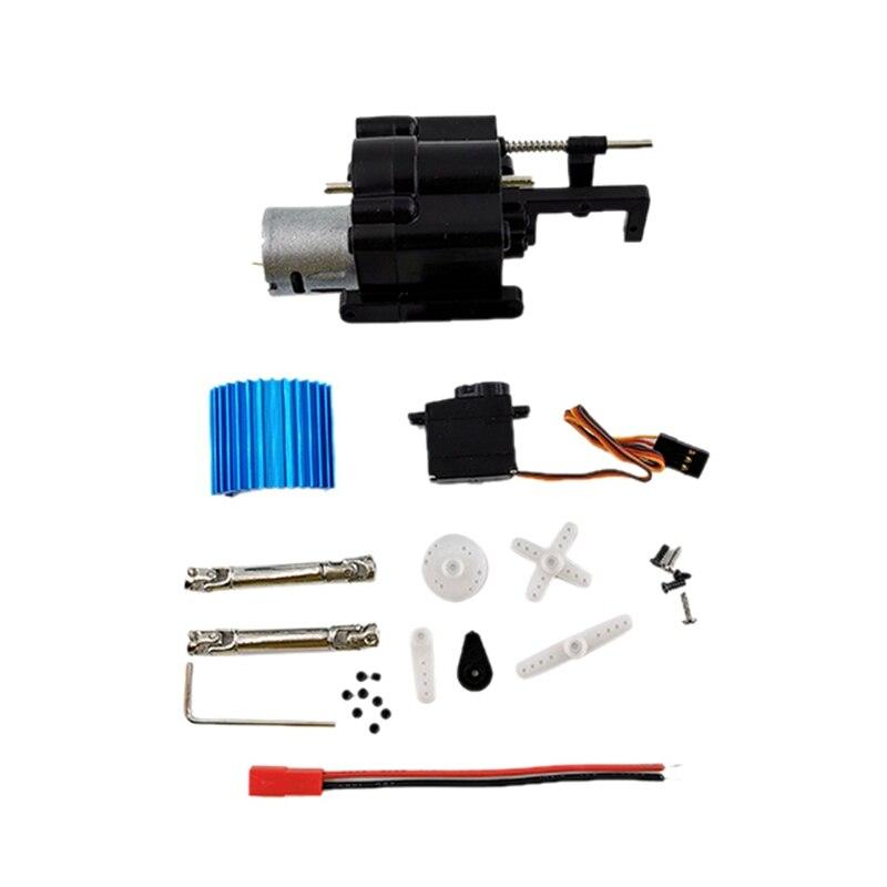 Комплект из 3 предметов, 2 Скорость Шестерни коробка с 370 вал привода двигателя для WPL B1/1/14/16/24 C14 1/16 Rc