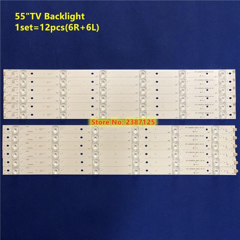 """LED Strip For Sharp 55"""" TV RF-AJ550E30-0601R-05 RF-AJ550E30-0601L-05 A0 LC-55CUG8461KS LSC550FN13-G04 LC-55CUG8462K HWV55162Y"""