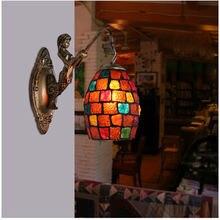 Настенный светильник tiooka из витражного стекла в богемном