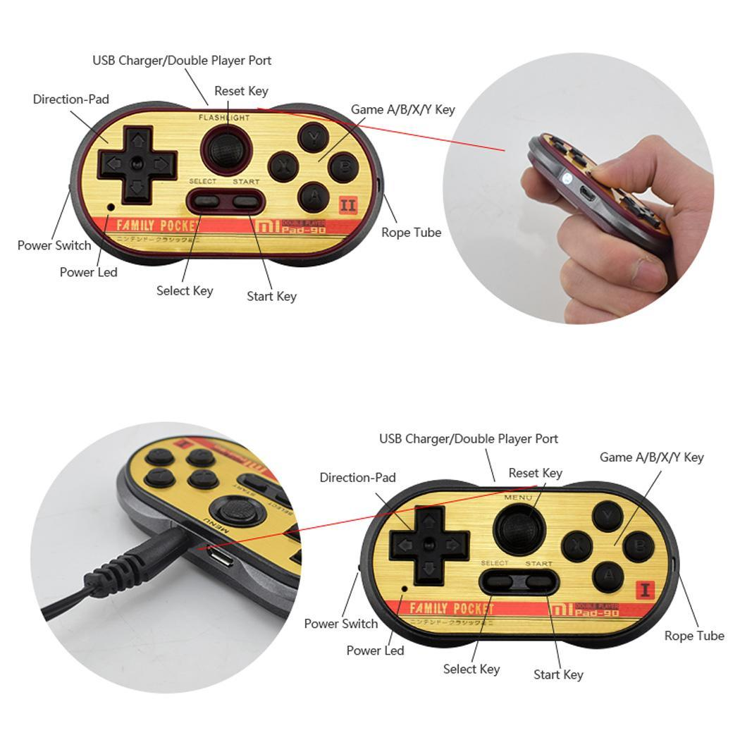 Portable Console Handheld Classic Mini with Standard NTSC System 260 In-Built Games Black + Blue, Black + Brown