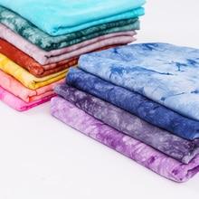 Tecido gravata tintura viscose popeline tecido pelos medidores para costura vestido ou tecido lenço muçulmano atacado 50*140 cm/peça tj0200