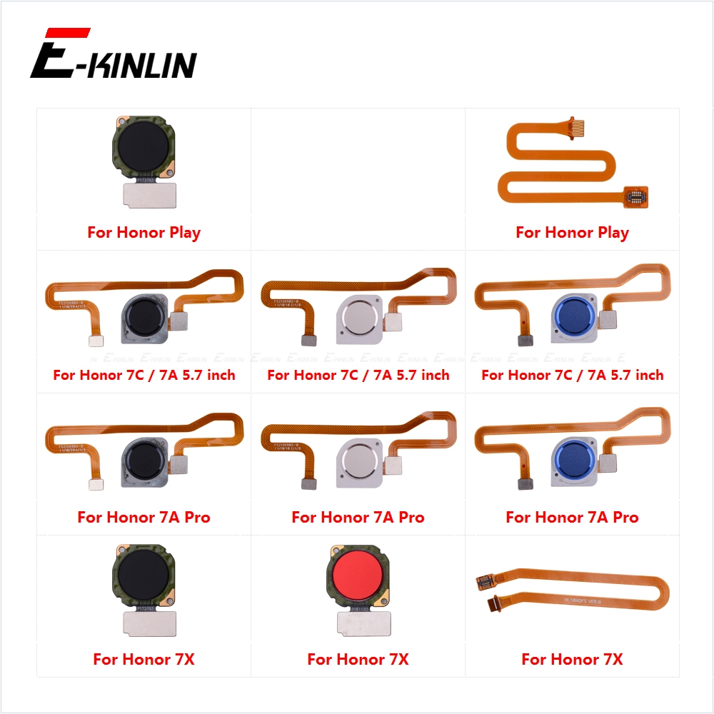 Touch ID Fingerprint Sensor Scanner Connector Flex Cable For HuaWei Honor Play 7X 7C 7A Pro Home Return Button Key Replace Parts
