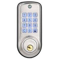 Cheap Smart Home Digital Door Lock  Waterproof Intelligent Keyless Password Pin Code Door Lock Electronic Deadbolt Lock w Zamki do drzwi od Majsterkowanie na