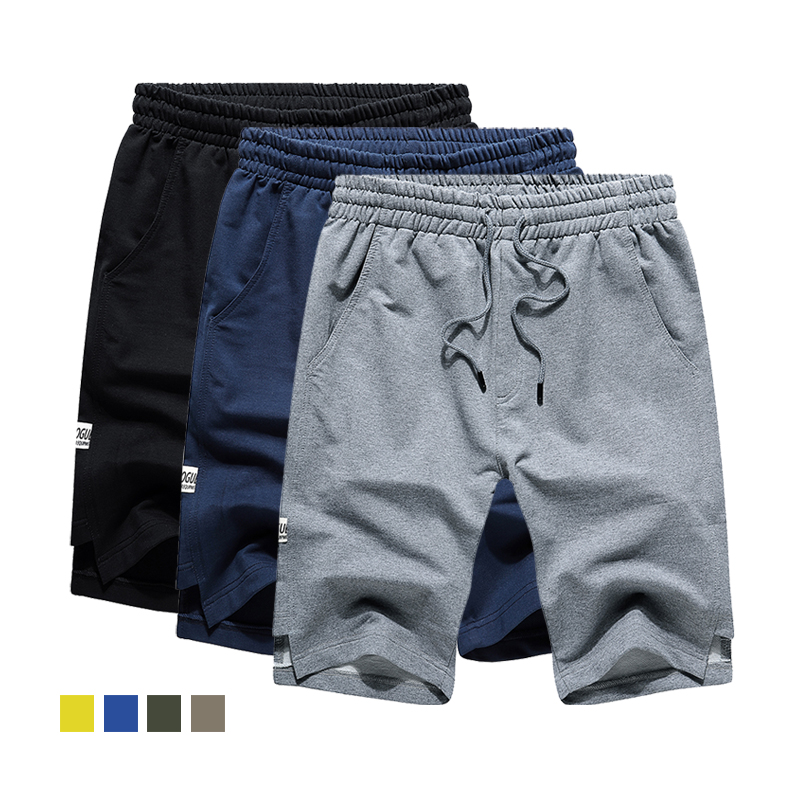 US/Euro Size Mens Summer Casual Shorts Men New Style Shorts Solid Breathable Elastic Waist Male Casual Short Men Plus Size M-2XL