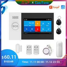 GauTone PG107 4.3inch Security Alarm Wifi GSM Alarm System for Home Support Tuya APP Call/SMS Remote Contorl