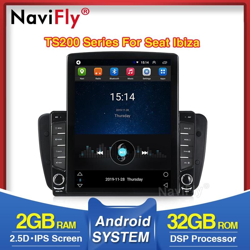 NaviFly Vertical Tesla Screen For Seat Ibiza 6j 2009 2010 2012 2013 With DSP Car Multimedia Player WIFI Bluetooth Radio FM AM