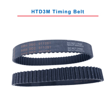 HTD3M Timing Belt closed loop 3M-255/258/261/264/267/270/273/276/279/282 rubber belt teeth pitch 3mm width 10/15mm for 3M pulley