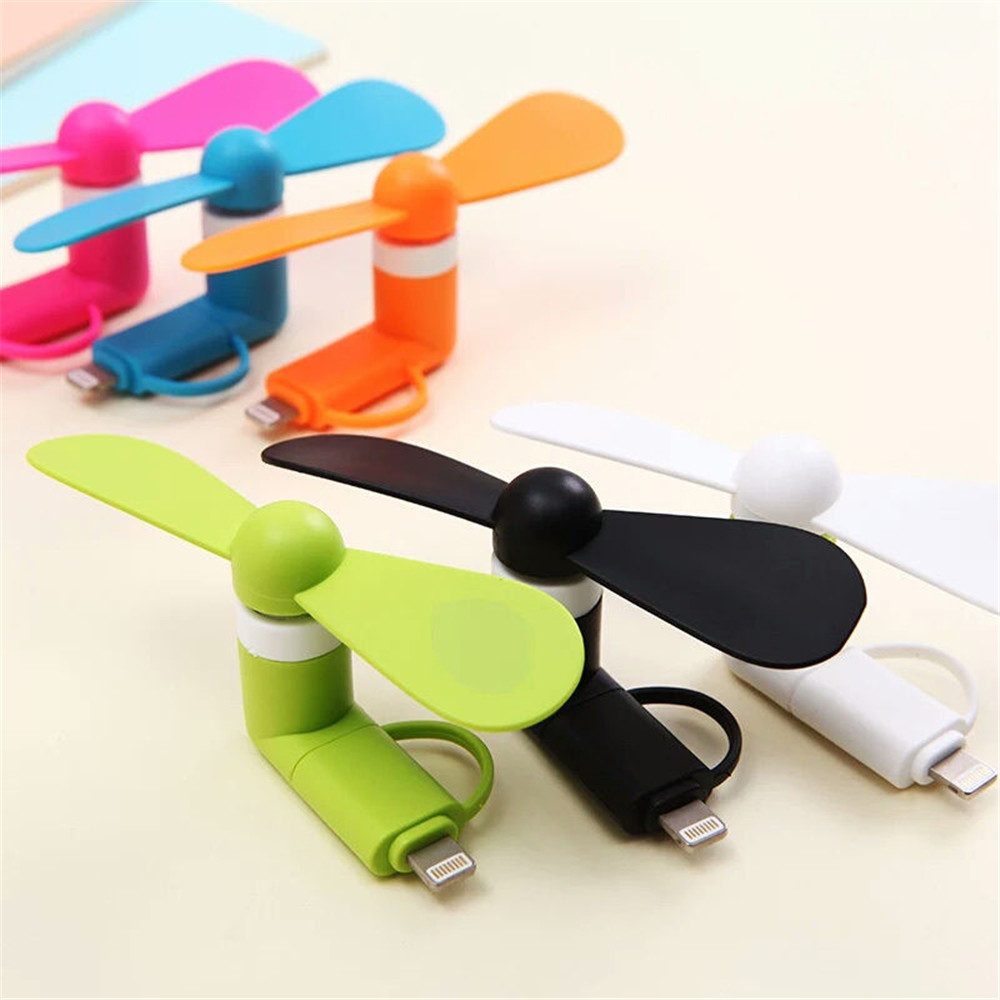 USB Plug Smartphone Mini Portable Fan Sport Travel Cooling Fan Widget Mini For IPhone And Android 2 In 1