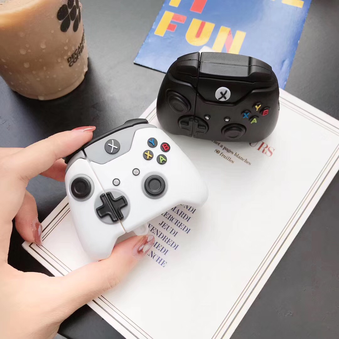 Xbox One S Controller Case for Airpods 1st//2nd 3D Cartoon Xbox One x Controller Silicone Funny Airpod Cover Cool Keychain Design Skin,Fashion Cases for Girls Kids Teens Boys Airpods Black