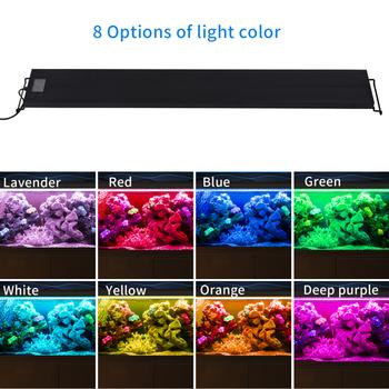 45cm Programmable Aquarium Lighting Full Spectrum Fish Tank LED Light with Extendable Brackets  2