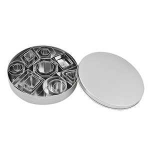 Image 5 - 2 4cm 24pcs/Lot Stainless Steel Geometry Round Square Clay Cutter Designer DIY Ceramic Pottery Polymer Clay Craft Cutting Mold