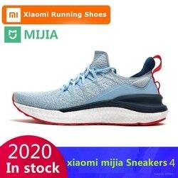 Oryginalne trampki Xiaomi Mijia 4 męskie sporty outdoorowe uni-odlewnictwo 4D System blokady Fishbone Knitting górne męskie buty do biegania