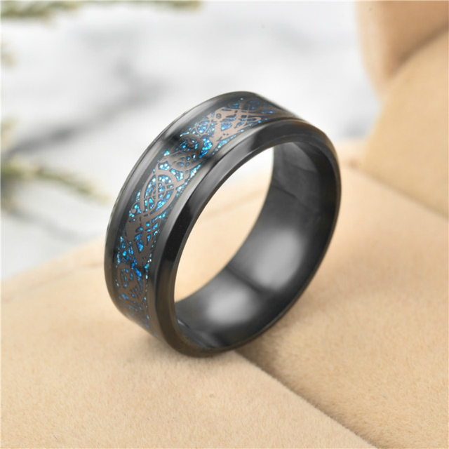 13 couleurs largeur 8mm Vintage or Dragon anneaux en acier inoxydable pour hommes bijoux pour hommes femmes bague de mariage bague masculine pour les amoureux
