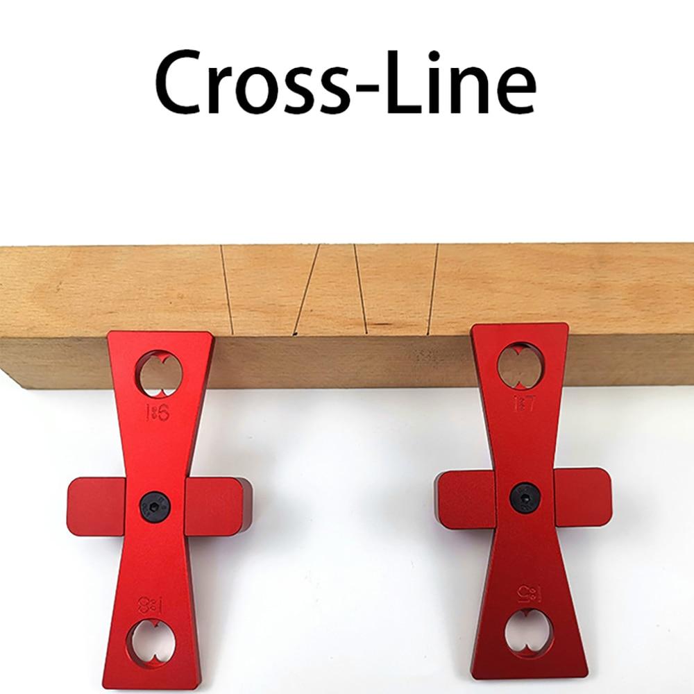 2pcs DIY Woodworking Dovetail Rule Marker Wood Joints Gauge Guide Tool Ruler Marking Gauge Scriber Woodworking Measuring Tool