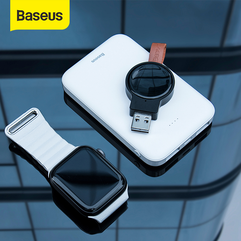 Baseus Portable Watch Charger for Apple Watch Charger Series 5 4 3 Magnetic USB Charger Fast Wireles