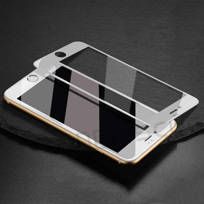 5D 9D szkło ochronne dla iPhone 7 8 6 6S Plus hartowane zabezpieczenie ekranu pełna pokrywa dla iPhone 11 Pro X XR XS Max folia ekranowa
