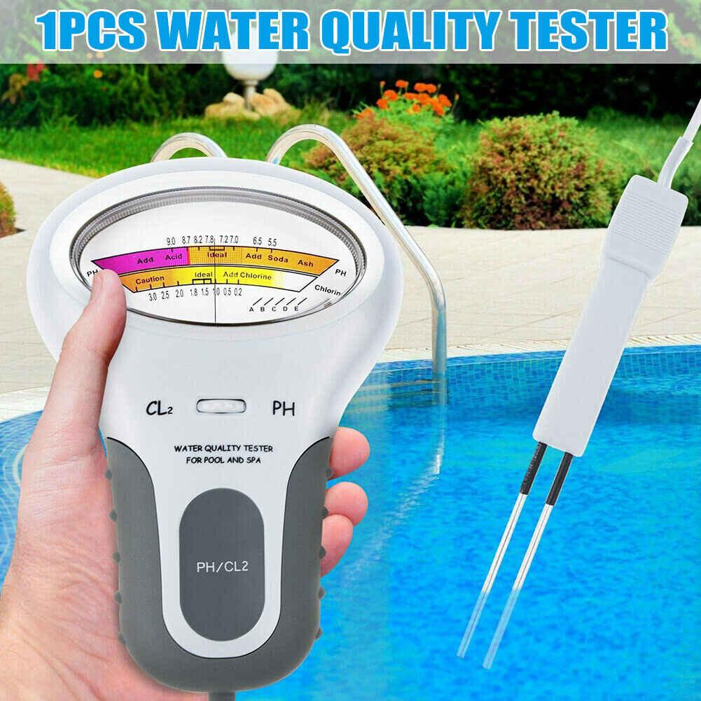Анализатор уровня хлора, PH и хлора Cl2, измеритель уровня, монитор для тестирования воды в бассейне, спа, с щупом