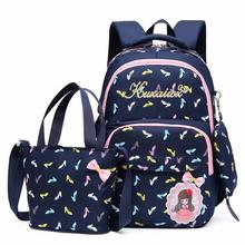 fashion New 3 pcs sets School Bag Fashion School Backpack for Teenagers Girls schoolbags kid backpacks mochila escolar cheap wenjie brother NYLON zipper 31cm 18cm 42cm School Bags
