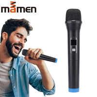 MAMEN Wireless Karaoke Microphone Handheld Mic with Receiver for Conference KTV Singing Party Speech Universal Loudspeaker