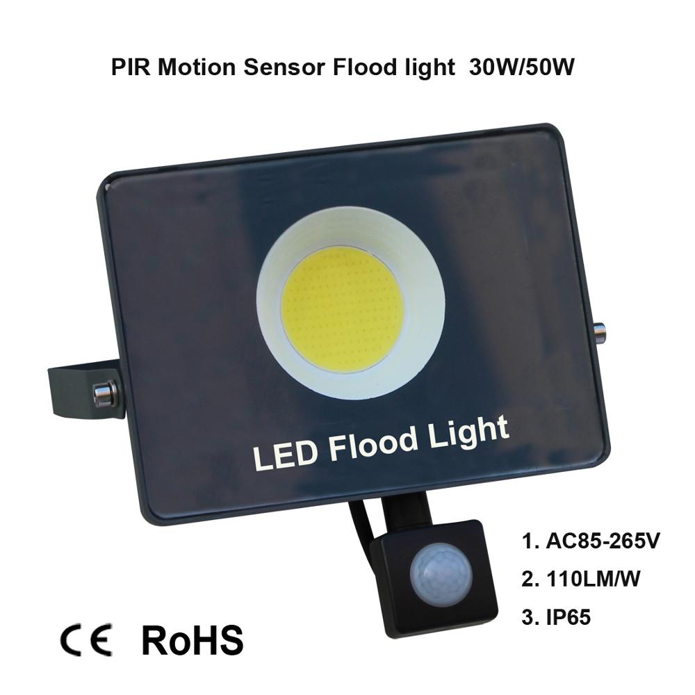 Image 2 - Motion Sensor LED Flood Light IP65 Waterproof 50W 30W 10W Reflector Floodlight Lamp AC 220V foco Led Exterior Outdoor Spot Light-in Floodlights from Lights & Lighting