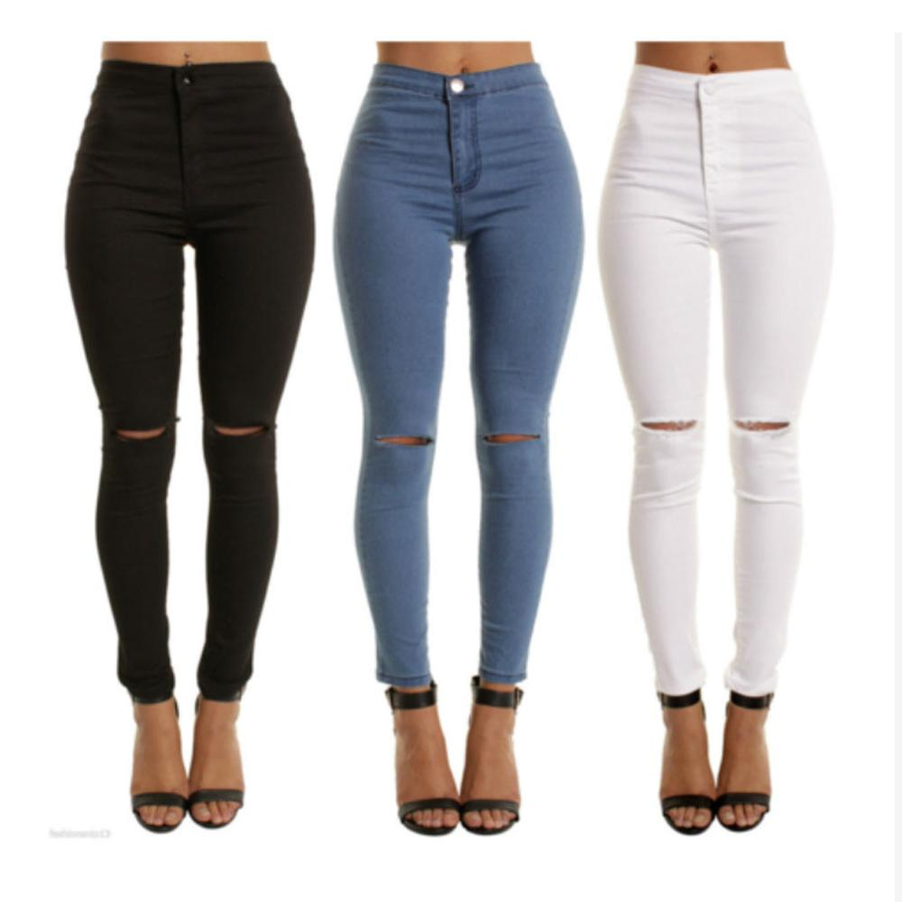 2020 Newest Arrivals Fashion Hot Women Lady Denim Skinny Pants High Waist Stretch Jeans Slim Pencil Jeans Women Casual Jeans