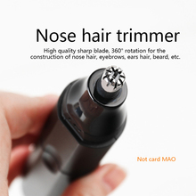 Electric Ear Nose Trimmer for Men's Shaver Rechargeable Hair Removal Eyebrow Trimer Safe Lasting Face Care Tool Kit 2 in 1 multi function epilator ear nose trimmer men s shaver hair removal tools safe lasting face care kit hair removal machine